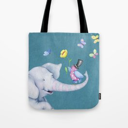Elly and Chirp Tote Bag