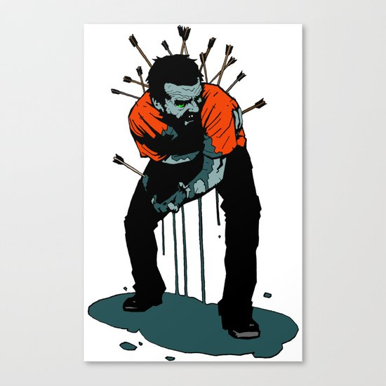 Stop Wasting Arrows And Aim For Its Head, You Damn Fools! Canvas Print