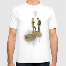Danse Sale | Collage MEDIUM White Mens Fitted Tee