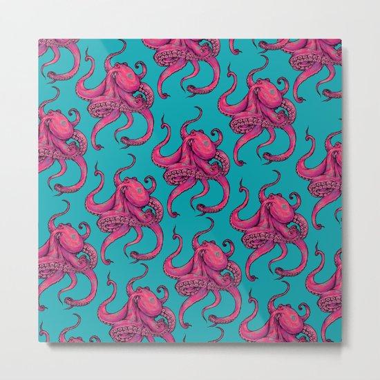 Octopus Pattern Metal Print