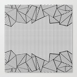 Grids and Stripes Canvas Print