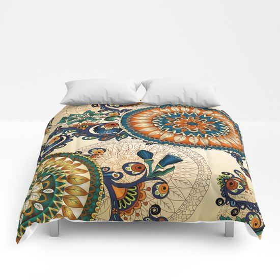 Indian Feather Pattern Comforters