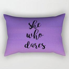She Who Dares - Indigo Ombre Rectangular Pillow
