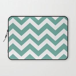 Green Sheen - grey color - Zigzag Chevron Pattern Laptop Sleeve