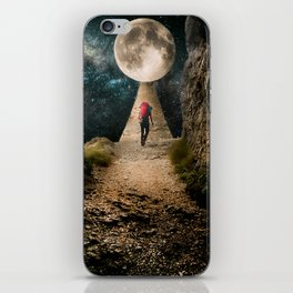 A walk to the Moon iPhone Skin