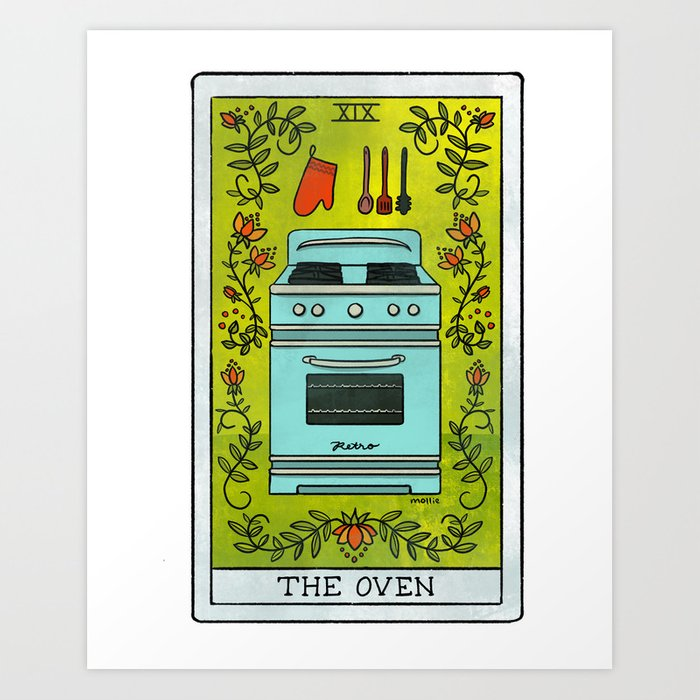 The Oven | Baker's Tarot Kunstdrucke