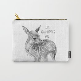 Deer Illustration By Magda Opoka | Animal | Black and White | bw | black-and-white | Animals Carry-All Pouch