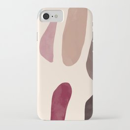 Color Stones Biege Path iPhone Case