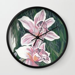 Delicate Lilies Wall Clock