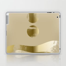 Rising Moon Over Golden Hills 01 Laptop & iPad Skin