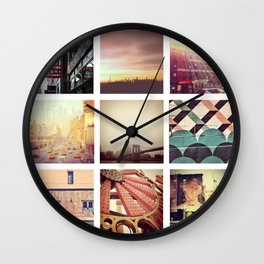 New York Scenes Wall Clock