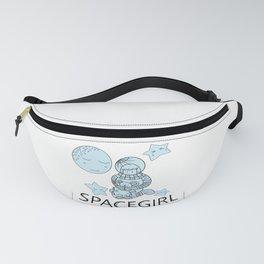 Space Girl Astronaut Holding Teddy Bear Fanny Pack