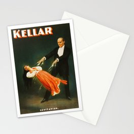 Vintage Kellar Magician - Levitation Stationery Cards
