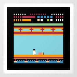 Minimal NES: Kung Fu Art Print