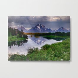 Mt. Moran at Oxbow Bend Metal Print
