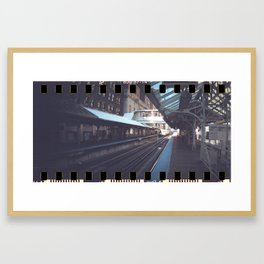 Waiting for the train Framed Art Print