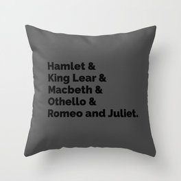 The Shakespeare Plays II Throw Pillow