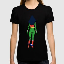 Wonder Butt - Alien Green Xmas Ass - Feminism T-shirt