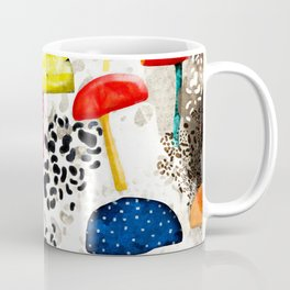 Mein Ein, mein Alles - Mushrooms Abstract Botanical Art - cute animal print - Leopard Muster Coffee Mug