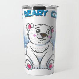 So Beary Cute Adorable Polar Bear Cub Pun Travel Mug