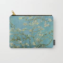 Almond Blossoms Painting by Vincent van Gogh Oil Painting Pastel Blue White Floral Blossom Petals Pattern Carry-All Pouch