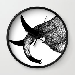 Maasai Tusks Wall Clock