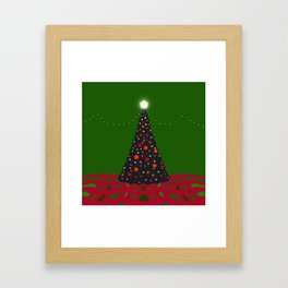 Christmas Tree with Glowing Star Framed Art Print