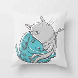 Hugtime Blues Throw Pillow
