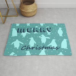 Merry Christmas from the penguins II Rug