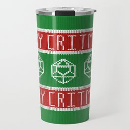 Merry Critmas - D&D Christmas Sweater Travel Mug