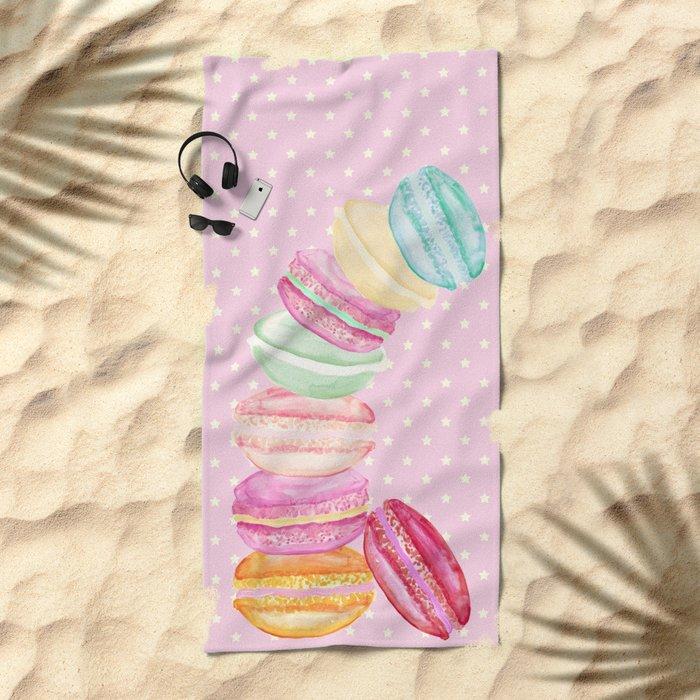 MACARONS & STARS Beach Towel