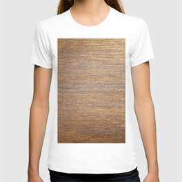 Rustic brown gold wood texture T-shirt