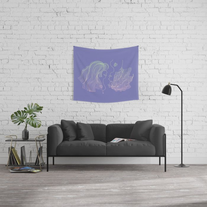 Girl and Girl Wall Tapestry