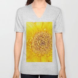 Sunny Summer Love - Yellow Gerbera #1 #decor #art #society6 Unisex V-Neck
