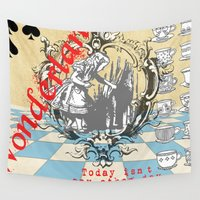 wonderland Wall Tapestries featuring Wonderland by TooShai Studios