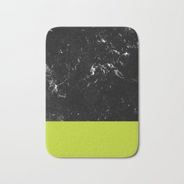 Lime Punch Meets Black Marble #1 #decor #art #society6 Bath Mat