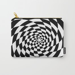 Optical Illusion Op Art Black and White Retro Style Carry-All Pouch