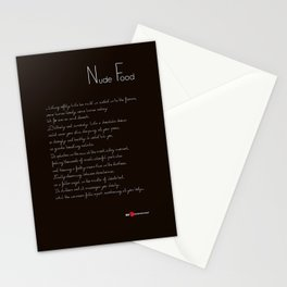 Nude Food Stationery Cards