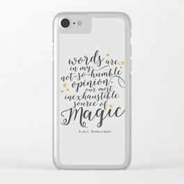 Dumbledore's Magic Words Clear iPhone Case