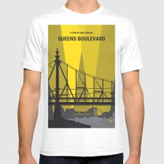 No776 My Queens Boulevard minimal movie poster Mens Fitted Tee MEDIUM White