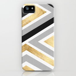 Gray and gold composition I iPhone Case