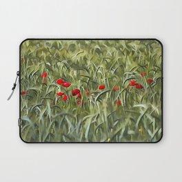 Cornfield Poppy Landscape Laptop Sleeve