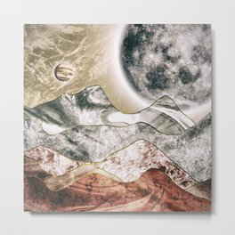 The red planet and its moon Metal Print