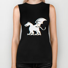 DND DM Gift for Dungeon Masters and Roleplay Gamers | Trippy Dragon Psychedelic Effect Design  Biker Tank