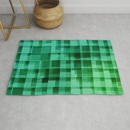 green squares pattern Rug