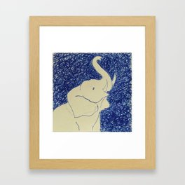 Elephant Doodle # 2 Framed Art Print