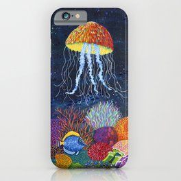 Sealife and Jellyfish iPhone Case