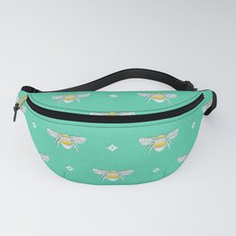 Bumblebee Stamp on Seafoam Fanny Pack