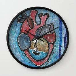 Seasick Hearts Wall Clock