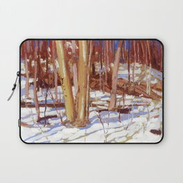 Tom Thomson - Snowy Trail, Algonquin Park  - Canada, Canadian Oil Painting - Group of Seven Laptop Sleeve